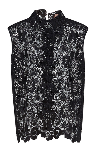 Medium no 21 black dorotea sleeveless embroidered top