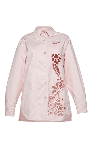 Medium no 21 pink carlota long sleeve embroidered jacket