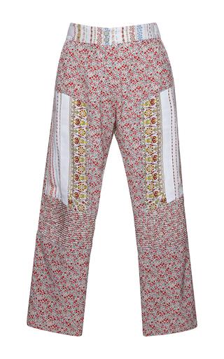 Medium no 21 multi paz floral print cropped pants
