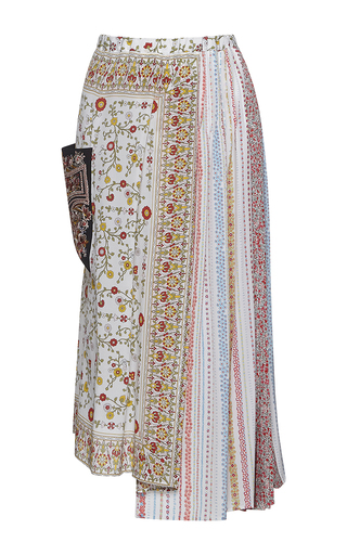 Medium no 21 multi gabriela multi print midi length skirt