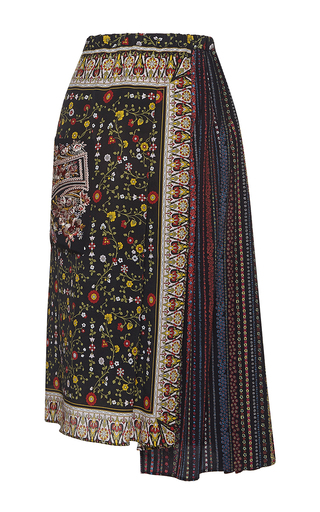 Medium no 21 multi helena pleated wrap skirt