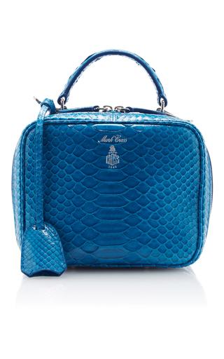 Medium mark cross blue laura python bag
