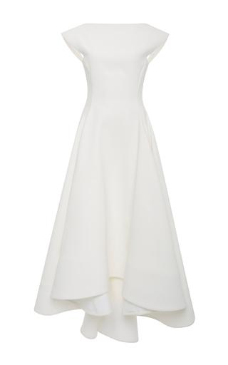 Medium maticevski white white polarized a line gown