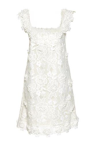 Medium costarellos white mini blossom lace shift dress