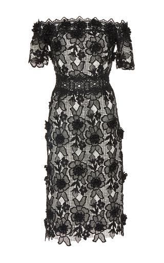 Medium costarellos black lace off the shoulder dress