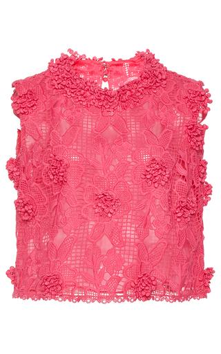 Medium costarellos pink bloom lace sleeveless top