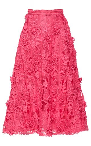 Medium costarellos pink bloom lace a line skirt
