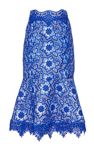 Medium costarellos blue brocade organza fluted skirt