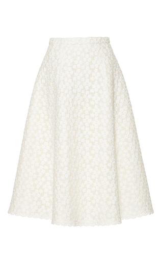 Medium costarellos white floral embroidered lace skirt