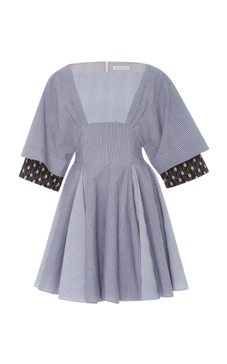Medium j w anderson blue cotton seersucker dress