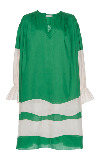 Medium vika gazinskaya green stripe bottom dress