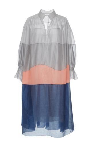 Medium vika gazinskaya multi color block transparent midi dress