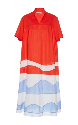 Medium vika gazinskaya multi color block waves dress