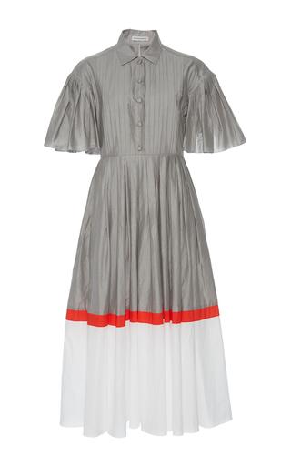 Medium vika gazinskaya multi color block pintuck dress