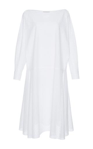 Medium vika gazinskaya white eyelet long dress