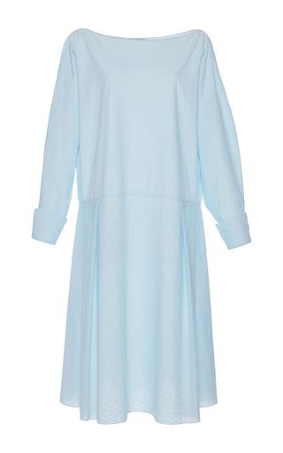 Medium vika gazinskaya blue eyelet long sleeve dress
