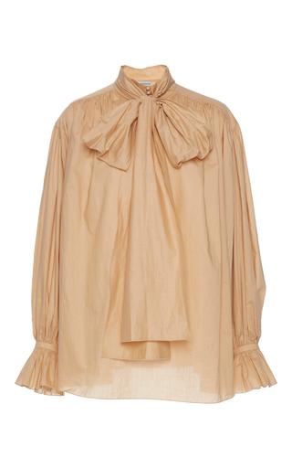 Medium vika gazinskaya brown scarf neck blouse