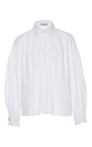 Medium vika gazinskaya white striped blouse