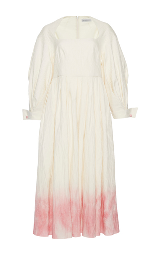 Medium vika gazinskaya white ombre pleated midi dress