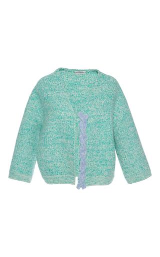 Medium vika gazinskaya green green cable knit cardigan