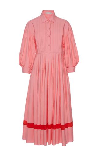 Medium vika gazinskaya pink pintuck dress