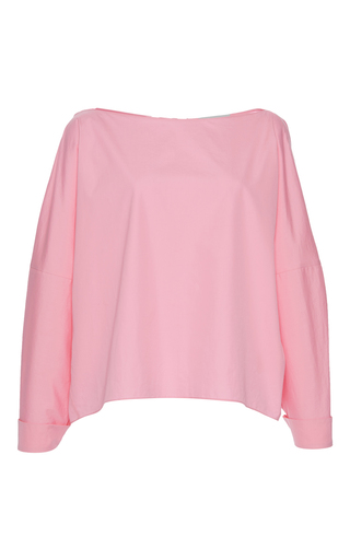 Medium vika gazinskaya pink button back blouse