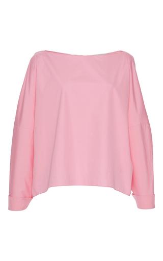 Medium vika gazinskaya pink button back blouse