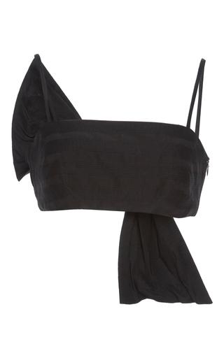 Medium vika gazinskaya black black bow back bra top