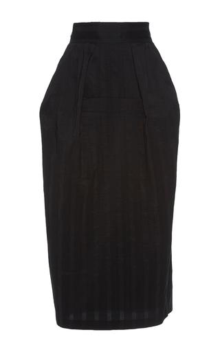 Medium vika gazinskaya black silk cotton midi length skirt
