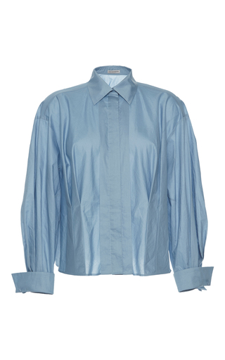 Medium vika gazinskaya blue front pleat blouse