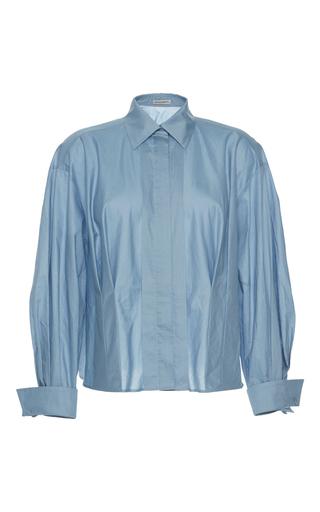 Medium vika gazinskaya blue front pleat blouse