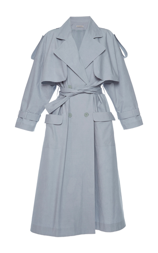 Medium vika gazinskaya light grey double breasted trench coat