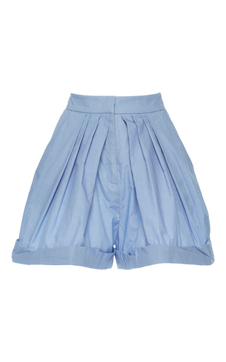 Medium vika gazinskaya blue high waisted pleated shorts