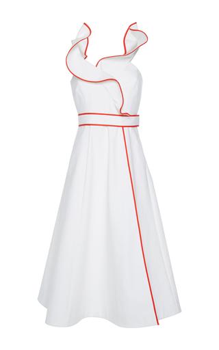 Medium vika gazinskaya white ruffle wrap dress