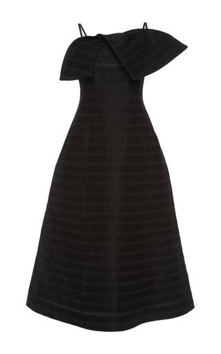 Medium vika gazinskaya black stripe bow dress