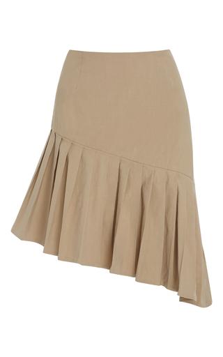 Medium sea khaki pleated asymmetrical skirt