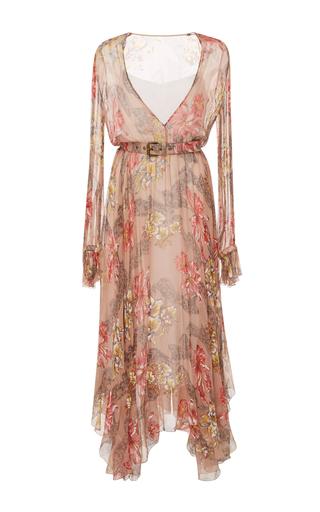 Medium philosophy di lorenzo serafini floral long sleeve belted dress