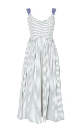 Medium luisa beccaria stripe linen stretch stripes ribbon dress