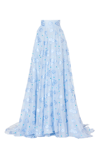 Medium luisa beccaria blue organza fil coupe skirt