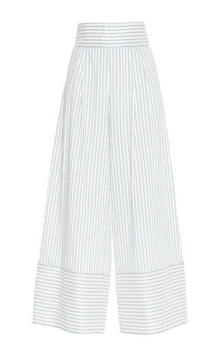 Medium luisa beccaria stripe linen stretch stripes pants