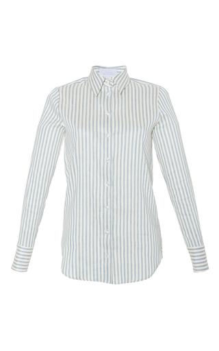 Medium luisa beccaria stripe linen stretch stripes shirt