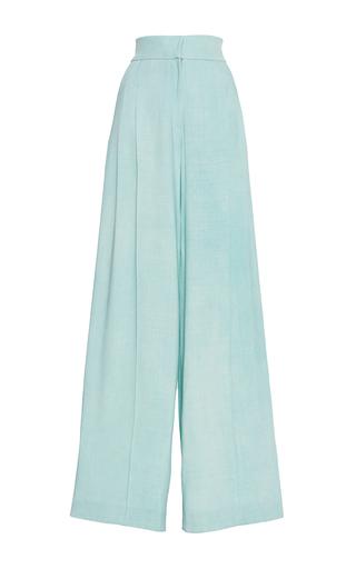 Medium luisa beccaria blue linen palazzo pants
