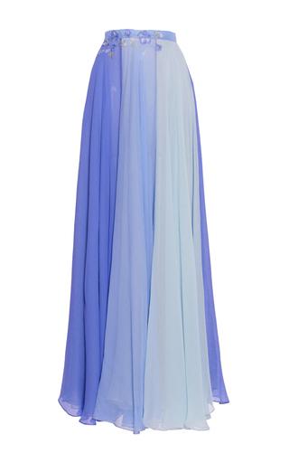 Medium luisa beccaria blue chiffon multicolor skirt