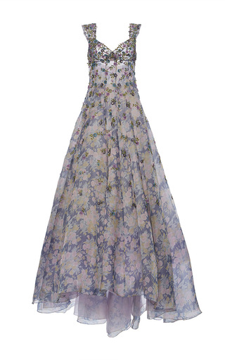 Medium luisa beccaria multi organza embroidered printed gown
