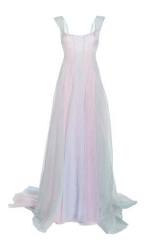 Medium luisa beccaria blue organza multicolor gown