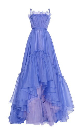 Medium luisa beccaria blue organza ball gown