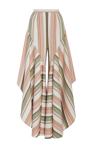 Medium christine alcalay stripe havana stripe ruffle flare pants