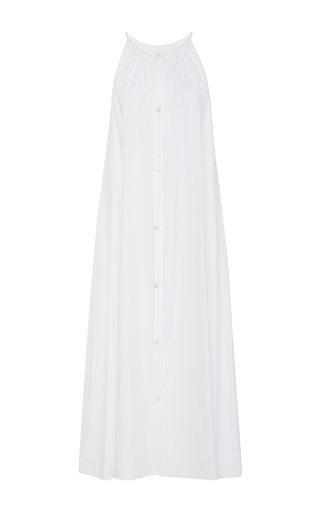 Medium christine alcalay white button front tank dress