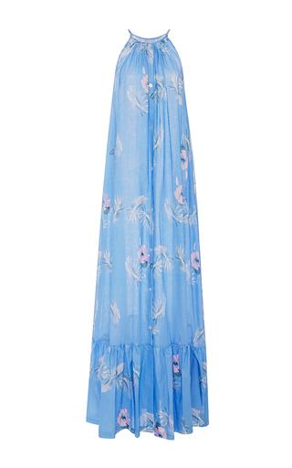 Medium christine alcalay print linen gauze hibiscus dress