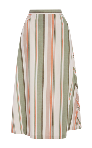 Medium christine alcalay stripe havana stripe oxford skirt
